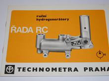 Ruční hydrogenerátory - řada RC - Technometra Praha - prospekt