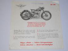 Zündapp DB 201 - prospekt - švédsky