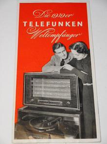Telefunken Weltempfänger - prospekt - 1939 - radio