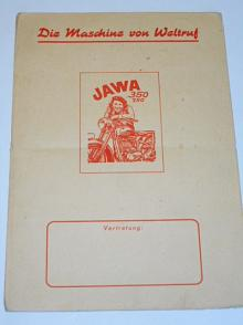 JAWA 250, 350 pérák - Zbrojovka Brno - prospekt - Die Maschine von Weltruf