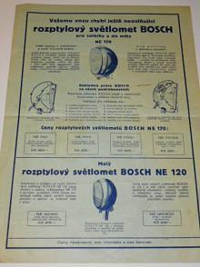 Bosch - rozptylový světlomet NE 170, NE 120 - prospekt