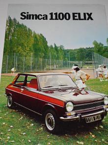Simca 1100 ELIX - prospekt - 1975