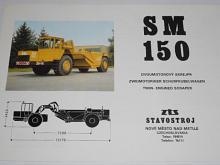 ZTS Stavostroj - SM 150 - dvoumotorový skrejpr - prospekt