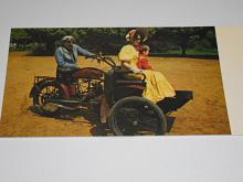 Tříkolka Laurin a Klement z roku 1907 - pohlednice