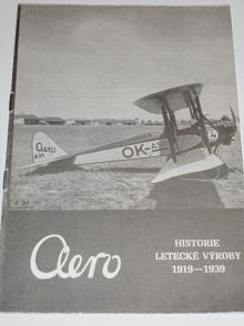 Aero - historie letecké výroby 1919 - 1939