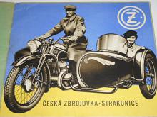 ČZ 98, 175, 250, 350, 500, sidecar - prospekt