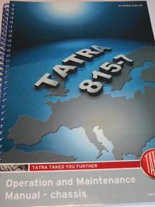 Tatra 815-7 - Operation and Maintenance Manual - chassis - 2016