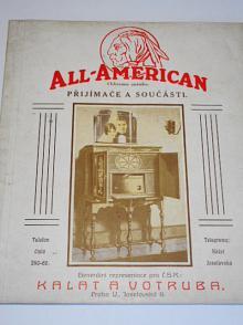 All-American - přijímače a součásti - prospekt - 1927