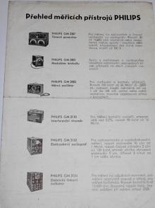 Philips - přehled měřících přístrojů - prospekt