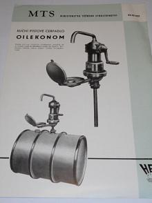 HEFA - ruční pístové čerpadlo Oilekonom - prospekt - 1957
