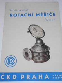 ČKD - průtokové rotační měřiče řady L - prospekt - 1959
