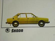 Škoda 105, 120 - kartonová obálka na prospekty