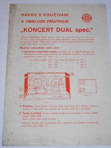 Telefunken  - návod k používání a obsluze přístroje Koncert Dual spec.