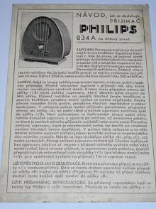 Philips 834 A - návod, jak se obsluhuje přijimač