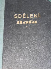 Sdělení zaměstnanců firmy T. a A. Baťa ve Zlíně - 1929