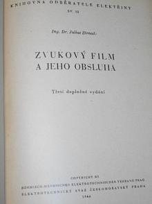 Zvukový film a jeho obsluha - Julius Strnad - 1944