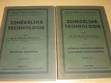Zemědělská technologie I., II. - průmysl okopnin, obilovin a rostlin obchodně - průmyslových - 1926, 1928