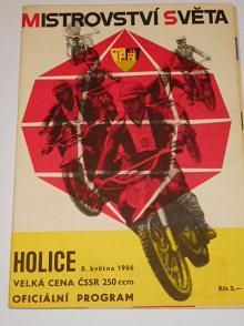 Mistrovství světa Holice, Velká cena ČSSR 250 ccm - 8. 5. 1966 - program