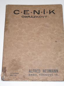 Alfred Neumann, Brno - ceník obrázkový - uzenářské stroje, chladírny, lednice Hygy, kotle, sekery, nože, ocílky, váhy, krámské zařízení