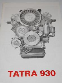 Tatra 930 - motor - 1974 - prospekt