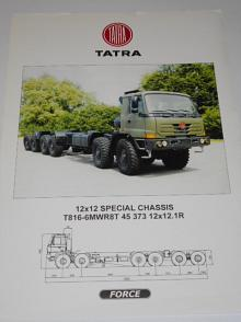 Tatra Force 12x12 special chassis T816-6MWR8T 45 373 12x12.1 R - prospekt bez textu