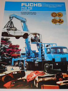 Tatra 815 Fuchs Bagger 713 TU - hydraulický nakladač - prospekt - Kovošrot Lom
