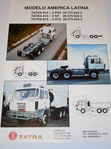 Tatra 815 - 2 PR3, 2 NT, 2 SV3 28 275 6x6.2 Modelo America Latina - prospekt