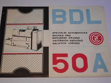 ČZ BDL 50 A - speciální automatická bruska pro broušení otvorů vnitřních kroužků valivých ložisek - prospekt