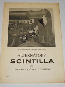 Scintilla - alternátory pro traktory a průmyslové motory - 1932