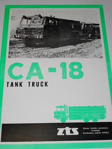Tatra 815 CA-18 tank truck - prospekt - ZTS Košice