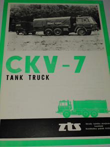 Tatra 815 CKV-7 tank truck - prospekt - ZTS Košice
