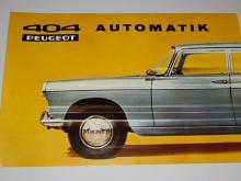 Peugeot 404 Automatik - prospekt - 1967