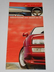 Kamei - Aerodynamik und Design 1989/1990 - prospekt - Audi, BMW, Ford, Mercedes - Benz, Opel, Volkswagen, Seat