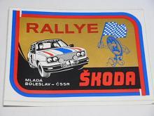 Rallye Škoda - Mladá Boleslav - ČSSR - 1984 - samolepka
