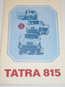 Tatra 815 - užitkové automobily - prospekt