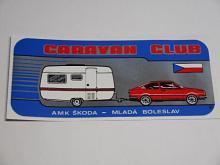 Caravan club - AMK Škoda - Mladá Boleslav - samolepka - Škoda Garde - Rapid