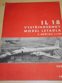 IL 18 - vystřihovánky - model letadla v měřítku 1:120 - 1964