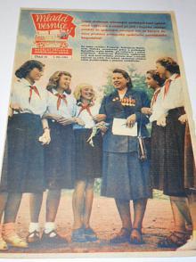 Mladá vesnice - 1951 - Hrdinové radostné společné práce - naši učitelé...