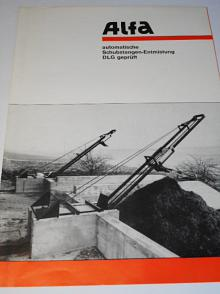 Alfa - automatische Schubstangen-Entmistung DLG geprüft - prospekt - 1969