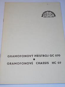 Supraphon - Gramofonový přístroj GC 070, gramofonové chassis HC 07