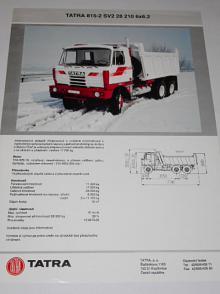 Tatra 815-2 SV2 28 210 6x6.2 - prospekt