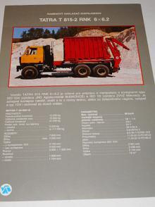Tatra 815-2 RNK 6x6.2 ramenový nakladač kontajnerov - prospekt - VAB Bánovce nad Bebravou