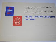 Svazarm - Svaz pro spolupráci s armádou - Vzorná základní organizace Svazarmu - diplom