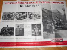 Mezinárodní pamětní dny odboje - duben 1955 - plakát