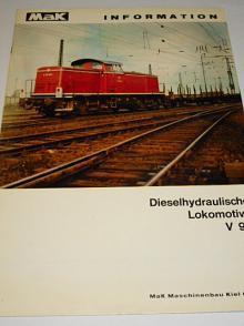 MaK Dieselhydraulische Lokomotive V 90 - prospekt - 1963