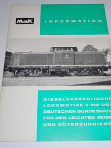 MaK Dieselhydraulische Lokomotive V 100 der Deutsche Bundesbahn für den Leichten Reise - und Güterzugdienst - prospekt