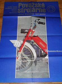 Považské strojárne závod Klementa Gottwalda - Babetta - Mototechna - plakát