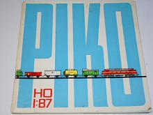PIKO Modellbahn H0 1:87 - modelová železnice - prospekt - 1967