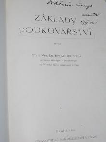 Základy podkovářství - Emanuel Král - 1950