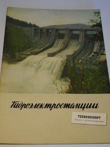 Vodní elektrárny - prospekt - Technoexport - Škoda - ČKD - rusky